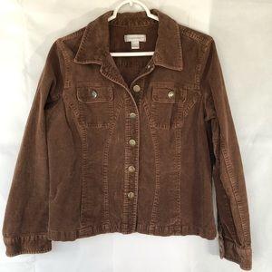 Chico's Brown Stretch Corduroy Jacket